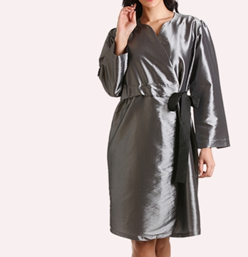 Coat Style Gowns With Fitted Belt