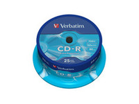 43432 Verbatim CD-R 52X Extra Protect. 700MB 25 Pack - eet01