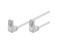 FTP5005WAA MicroConnect FTP CAT5E 0.5M White 90 angled - eet01