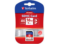 43962 Verbatim 16 GB Secure Digital  Card (SDHC) Class 10 - eet01