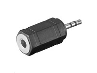 MicroConnect Adapter 2.5mm - 3.5mm M-F Stereo AUDASM - eet01