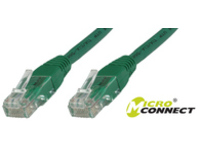 MicroConnect U/UTP CAT5e 0.5M Green PVC Unshielded Network Cable, B-UTP5005G - eet01