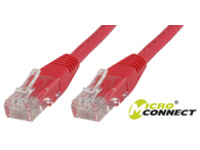 MicroConnect U/UTP CAT5e 0.5M Red PVC Unshielded Network Cable, UTP5005R - eet01
