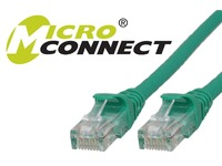 MicroConnect U/UTP CAT6 0.5M Green Snagless Unshielded Network Cable, UTP6005GBOOTED - eet01