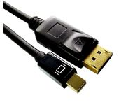 MicroConnect Mini DP - Displayport 2m M-M Black cable with gold plugs DP-MMG-180MB - eet01