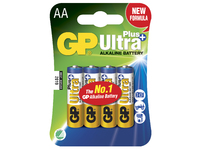 GP Batteries ULTRA PLUS ALKALINE AA/LR6 Blister with 4 batteries. 1,5V AA 4-P 15AUP - eet01