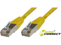 MicroConnect F/UTP CAT5e 0.25m Yellow PVC Outer Shield : Foil screening B-FTP50025Y - eet01