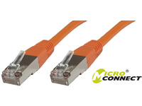MicroConnect S/FTP CAT6 0.25m Orange PVC PiMF (Pairs in metal foil) B-SFTP60025O - eet01