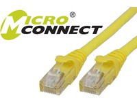 MicroConnect U/UTP CAT6 15M Yellow Snagless Unshielded Network Cable, UTP615YBOOTED - eet01