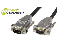 MicroConnect SVGA HD15 15m M-F Extension DoubleShielded, w Metal House MONGH15-METAL - eet01