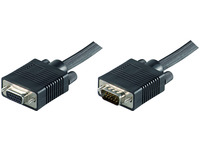 MicroConnect SVGA HD15 15m M-F Extension DoubleShielded Black MONGH15B - eet01