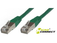 MicroConnect F/UTP CAT5e 1m Green  PVC Outer Shield : Foil screening STP501G - eet01
