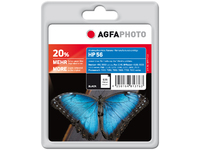 AgfaPhoto Ink Black, HP No. 56 Pages 520, 24ml APHP56B - eet01