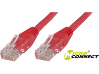 MicroConnect U/UTP CAT6 0.25M Red PVC Unshielded Network Cable, B-UTP60025R - eet01