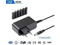 MicroBattery 24W Universal Adapter 12V 2A with 6 different connec MBXUN-24W-AC0002 - eet01