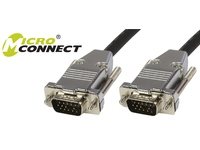 MicroConnect SVGA HD15 10m M-M Black DoubleShielded w/metal house MONGG10B-METAL - eet01