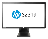 "Hp S231d 23"" Led Ips 16:9 Notebook Docking Monitor (1920x1080)/cam/ha/ti/sw/vga/dp/vesa F3j72at - xep01"