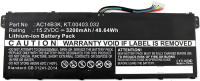 MicroBattery Laptop Battery for Acer 48.64Wh Li-ion 15.2V 3200mAh MBXAC-BA0043 - eet01