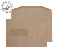 1009 Blake Purely Everyday Manilla Window Gummed Mailer 162X238mm 80Gm2 Pack 500 Code 1009 3P- 1009