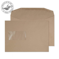 1002 Blake Purely Everyday Manilla Window Gummed Mailer 162X229mm 80Gm2 Pack 500 Code 1002 3P- 1002
