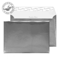 43EF391 Blake Creative Shine Chrome Plated Peel & Seal Wallet 162X229mm 140Gm2 Pack 10 Code 43Ef391 3P- 43EF391