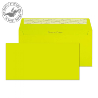 241 Blake Creative Colour Acid Green Peel & Seal Wallet 114X229mm 120Gm2 Pack 500 Code 241 3P- 241