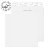 750 Blake Creative Colour Ice White Peel & Seal Square Wallet 155X155mm 120Gm2 Pack 500 Code 750 3P- 750