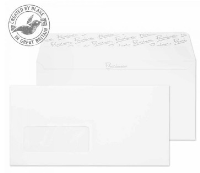 31264 Blake Premium Business Ice White Wove Window Peel & Seal Wallet 110X220mm 120G Pk25 Code 31264 3P- 31264
