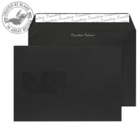 314W Blake Creative Colour Jet Black Window Peel & Seal Wallet 162X229mm 120Gm2 Pack 500 Code 314W 3P- 314W