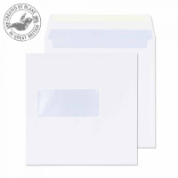 0155W Blake Purely Everyday White Window Gummed Square Wallet 155X155mm 100Gm2 Pack 500 Code 0155W 3P- 0155W