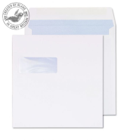 0240W Blake Purely Everyday White Window Gummed Square Wallet 240X240mm 100Gm2 Pack 250 Code 0240W 3P- 0240W