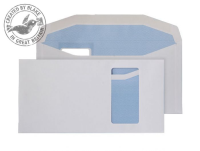9114PW Blake Purely Everyday White Window Gummed Mailer 121X235mm 90Gm2 Pack 1000 Code 9114Pw 3P- 9114PW