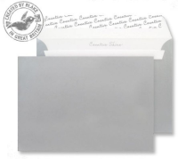 312 Blake Creative Shine Metallic Silver Peel & Seal Wallet 162X229mm 130Gm2 Pack 500 Code 312 3P- 312