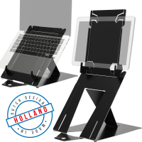 R-Go Tools R-Go Riser Duo, Tablet and Laptop Stand, adjustable, RGORIDUOBL - eet01