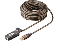 MicroConnect Active USB 2.0 extension cable 10m, with integrated booster WBEE10 - eet01