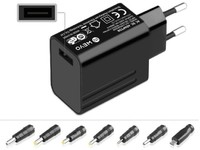 MicroBattery Universal Adapter 15W 5V 3A with USB Port MBXUN-15W-AC0001 - eet01