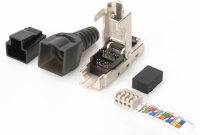 MicroConnect Tool-free RJ45 CAT6A connector Shielded, for field assembly, KON524TL - eet01