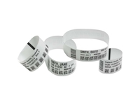 Zebra Wristband, Ultra Soft Infant 1x6, DT, White 10015358K - eet01
