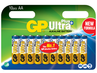 GP Batteries ULTRA PLUS ALKALINE AA/LR6 Blister with 10 batteries 1,5V AA 10-P 15AUP - eet01