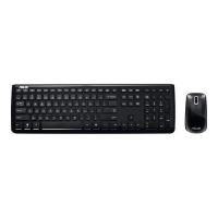 Asus W3000 - BLACK GERMAN KEYBOARD + MOUSE WIRELESS 90-XB2400KM00020- - eet01