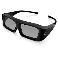 HP 3D Active Shutter Glasses **New Retail** XC554AA#ABB - eet01