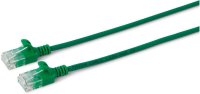 MicroConnect U/UTP CAT6A Slim 1M Green Unshielded Network Cable,  W125628014 - eet01