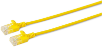MicroConnect U/UTP CAT6A Slim 0.25M Yellow Unshielded Network Cable,  W125628021 - eet01