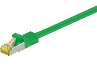 MicroConnect RJ45 patch cord S/FTP (PiMF), W. CAT 7 raw cable 25m Green SFTP725G - eet01