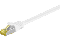 MicroConnect RJ45 patch cord S/FTP (PiMF), W. CAT 7 raw cable 25m White SFTP725W - eet01