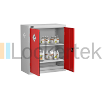 Low Height Toxic Materials Storage Cabinet with 1 shelf