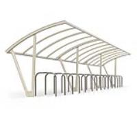 s04 Galvanised Steel and Polycarbonate Cycle Shelter