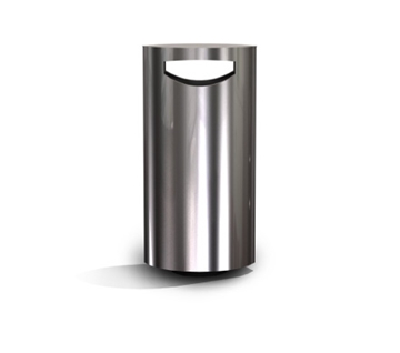 s11.3wa Stainless Steel Litter bin with Ashtray