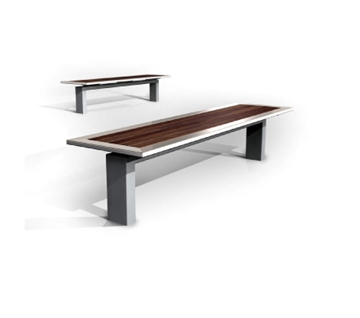 s30.2 Stainless Steel and Timber Bench