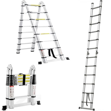 Double Sided Aluminium Telescopic Ladders